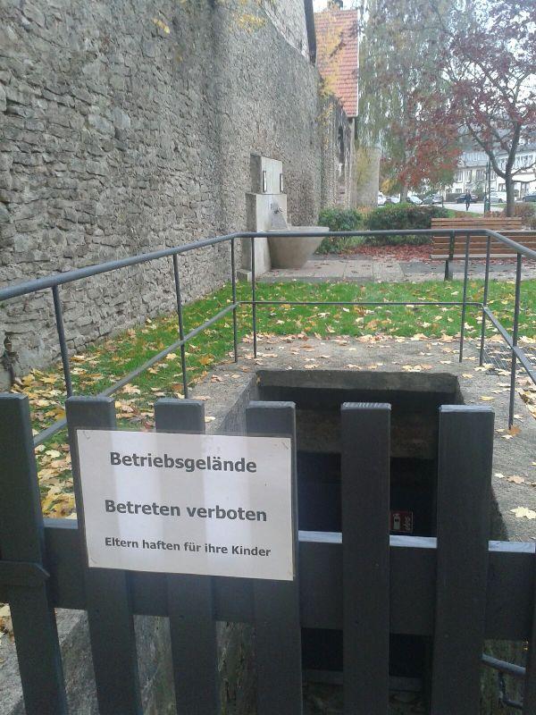 Treppenabgang Quellenring