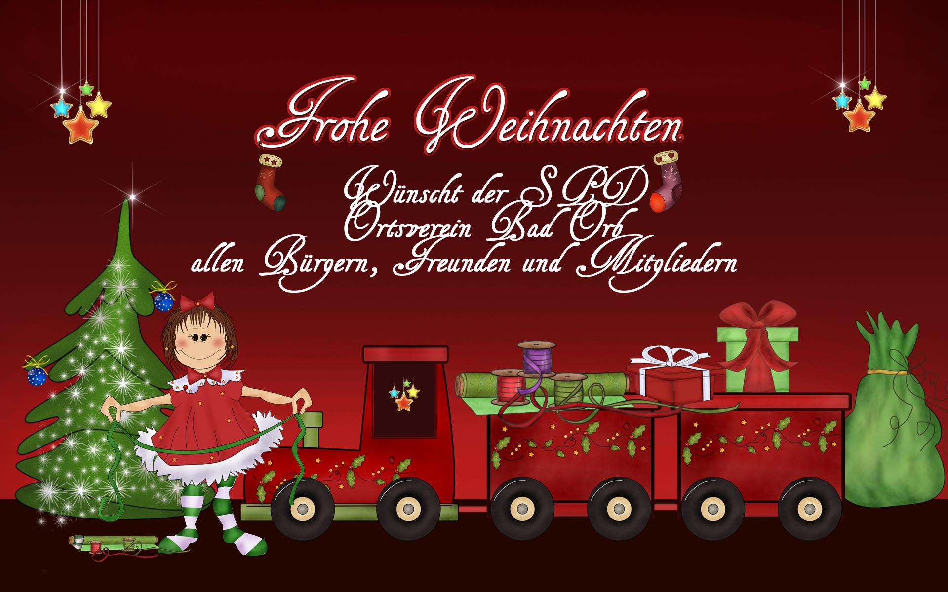 Frohe Weichnacht und ein gesegnetes neues Jahr!   SPD Bad Orb